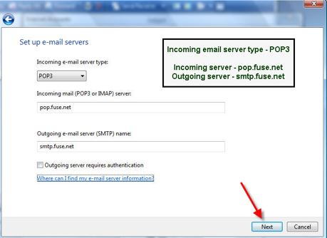 Cincinnati Bell - Special Pages - SMTP Authentication